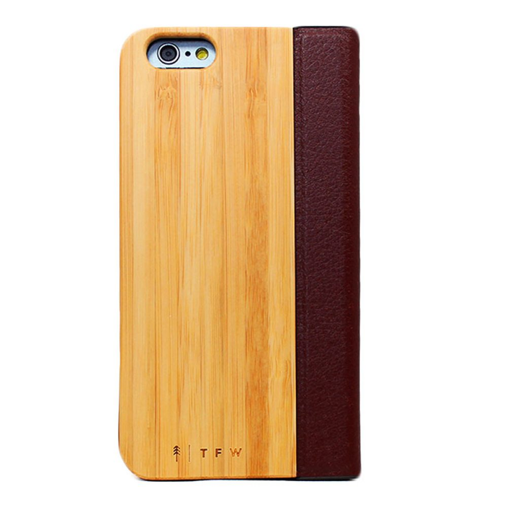 houten flip cover