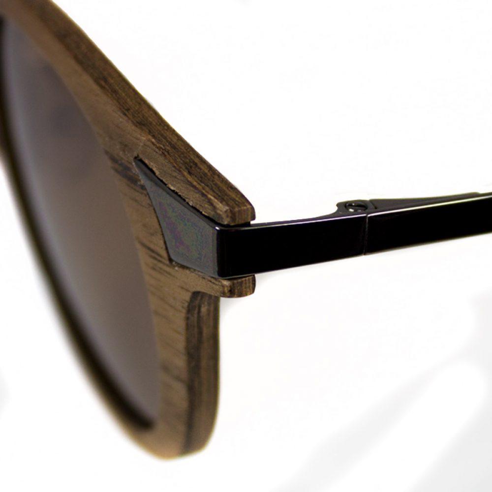 Houten zonnebril heren