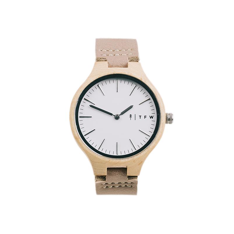 Houten horloge van esdoorn hout