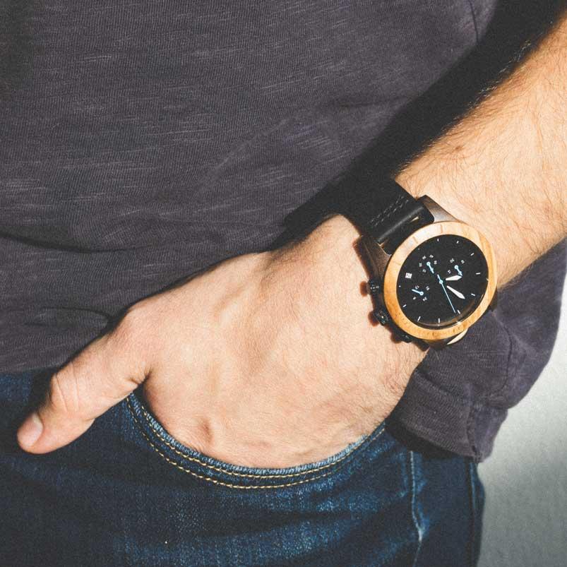 Houten horloge - Gueno