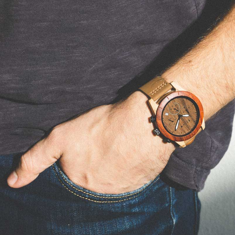 Houten horloge - Oligo