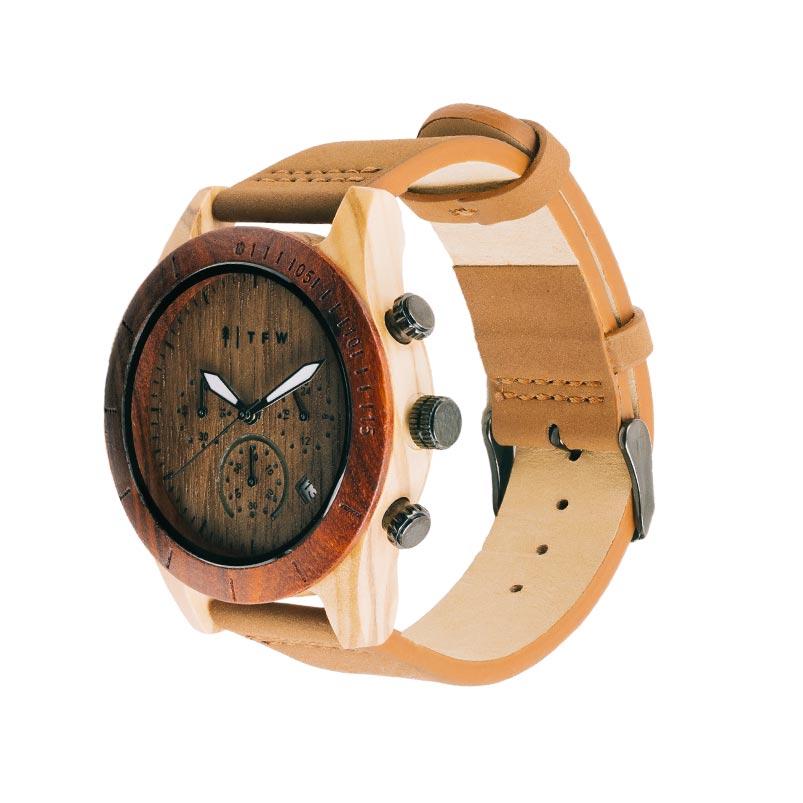 Oligo horloge van hout