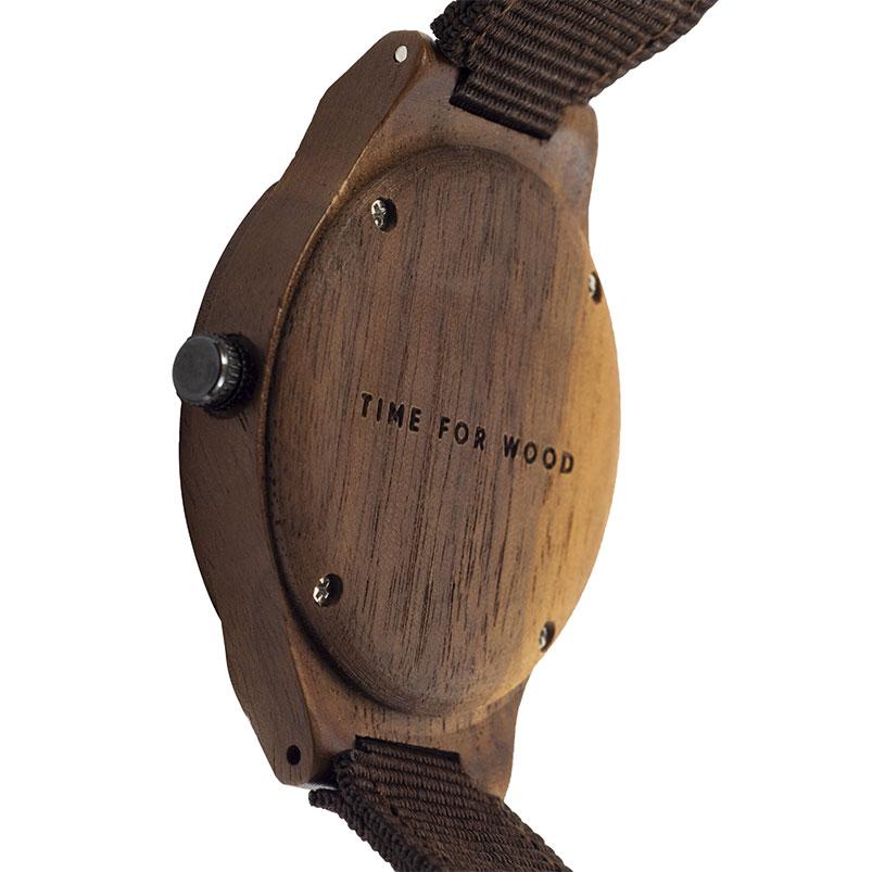 Houten horloge - walnoot